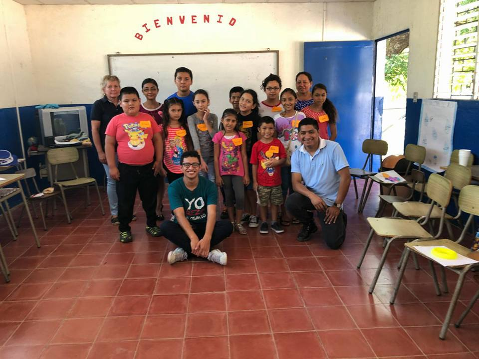 The youngest group of the parish during their day of study with Br. Roger.